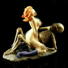 Aquarium Decor Fish Tank Ornament Skeleton Woman Figurine Resin Halloween Crafts