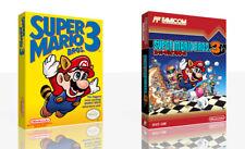 Super Mario Bros. 3 NES Replacement Game Case Box + Cover Art Work (No Game)
