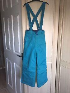 Ski  SNOW Trousers / Salopettes  Girls Turq Age 5/6 YRS hidden pockets  padded