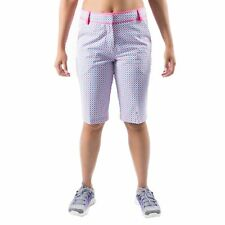 Women's PUMA Golf Novelty Bermuda Shorts Shocking Pink Blue Aster sz 2 (T5) $65