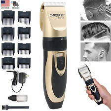 Professional Men Hair Clippers Trimmers Cordless Rechargeable Barber Haircut kit