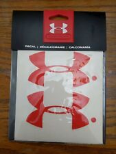 Under Armour  4 Inch Decals - Red - UDE2103 - New In Package!