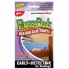 4-PK Buggy Beds Bed Bug Glue Trap Early Detector Up To 6 Months for DORMS
