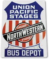 """Union Pacific Stages Chicago"" Oil Gas Service Auto Shop Garage Sign"
