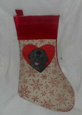 Newfoundland Dog Hand Painted Christmas Gift Stocking Holiday Decoration