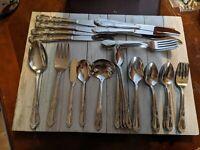 Lot 64 Oneida Rogers FENWAY DAYDREAM Flatware #2 Set Silverware Stainless Steel