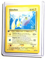 CHINCHOU - 1st Edition Neo Revelation - 42/64 - Common - Pokemon Card - NM