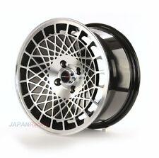 """Japan Racing JR14 16"""" x 9J ET10 4x100 schwarz bearbeiteten Face Alufelgen Y2400"""