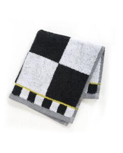 "Mackenzie Childs COURTLY CHECK Black & White 13"" Square WASH CLOTHNEW $8 m20-au"
