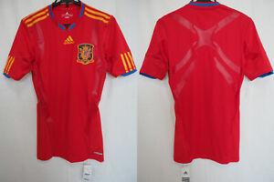 2010-2011 Spain National Team Player Jersey Shirt Techfit Home Adidas M BNWT