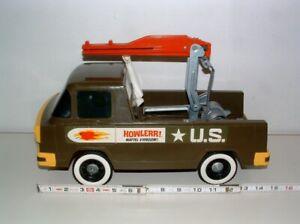 """* 1960s MATTEL V-RROOM! HOWLERR! PLASTIC 15"""" LONG MISSILE LAUNCHER VEHICLE"""
