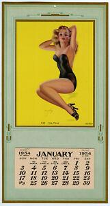 Fine 1954 Billy Devorss Pin Up Calendar Sexy Blonde Lingerie Model Pose, Please
