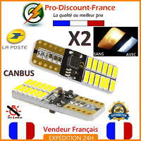 2 x ampoule LED T10 W5W 4014 Blanc Xenon Veilleuse CANBUS ANTI ERREUR VOITURE