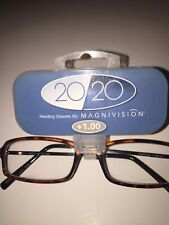 Magnivision Tortoise Brown Reading Glasses Foster Grant +1.00