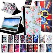 """Folio Leather Stand Cover Case For 7"""" 8"""" 10"""" Samsung Galaxy Tablet + Stylus"""