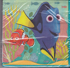 Disney Pixar - Finding Dory - Birthday Party Beverage Napkins - 16 Count - New