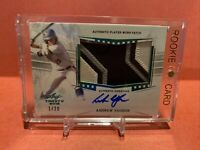 2019 LEAF TRINITY ANDREW VAUGHN PLAYER WORN PATCH AUTO 1/20 White Sox