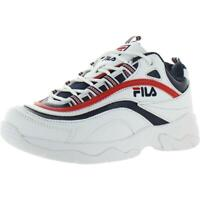 Fila Mens Ray White Faux Leather Low Top Sneakers Shoes 13 Medium (D) BHFO 0392