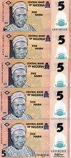 LOT Nigeria, 5 x 5 naira, 2015, P-New, POLYMER, UNC