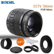 FUJIAN 50mm f/1.4 C Mount CCTV f1.4 Lens+Lens Hood+Macro Ring for Nikon N1 J4 J3