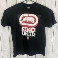 Ecko unltd. Mens Size 2XL Short Sleeve Black Graphic Print Rhino T-Shirt Tee