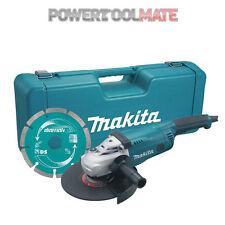 "Makita GA9020KD 110v 9"" 230mm Angle Grinder + Case & Diamond Wheel"