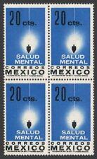 Mexico 924 block x4,MNH.Michel 1120. Mental Health,1962.Plumb-line.