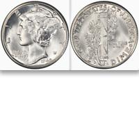 1942/1-D PCGS MS65FB █ Brilliant/White█ ♚ Doubled Die Obverse ♚ Mercury Dime 10C