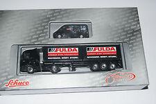 Schuco Modellauto 1:87 H0 MB Actros Container + MB Sprinter Fulda