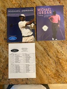 Rare Michael Jordan 2009/2010 Celebrity Invitational golf Tournament Programs!