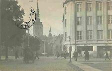 Street Scene, Tallinn Estonia RPPC 1921