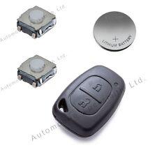 Diy Kit De Reparación Para Nissan Primastar 2 botón remoto clave batería conmutadores Shell