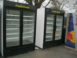 True GDM-49 Glass Door Cooler Merchandiser for soda beer produce or deli meat