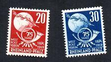 Germany Rhine Palatinate 1948 #6N41: MNH #6N42: MH