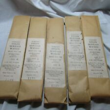 Antique Lot of 5 Gudebrod Bros Silk Co. Nylon Sewings Waxed Thread, US Military