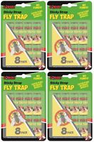 32 x Gonski Flying Insect Sticky Bug Wasp Fly Poison Free Paper Traps Catchers
