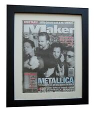 METALLICA+Load+MELODY MAKER 1996+POSTER+AD+FRAMED+RARE ORIGINAL+FAST GLOBAL SHIP