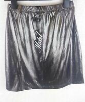 NEW Motel KIMMISHIN Style Metallic Silver Skirt PARTY Size SMALL A131-1
