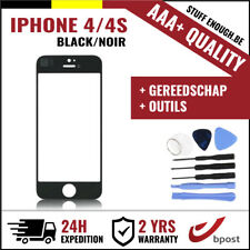 AAA+ FRONT GLASS/FRONT GLAS/VERRE AVANT BLACK + TOOLS FOR IPHONE 4/4S