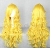 Fashion Long RWBY Yang Xiao Long Yellow Cosplay Wig