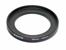 Kood Stepping Ring 34mm - 43mm Step Up Ring 34-43mm