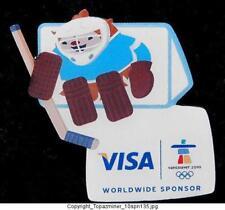 OLYMPIC PIN 2010 VANCOUVER CANADA MASCOT QUATCHI VISA S
