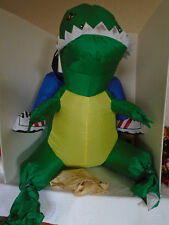 Gemmy 2005 Airblown Inflatable Illusions Jockey Dino Kids Costume