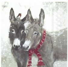 Decoupage Paper Napkins Donkeys Craft Sheet Serviette x 2 BUY 4 get 2 FREE