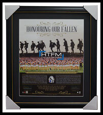 Collingwood Honouring Our Fallen ANZAC Signed Print Framed Pendlebury & Buckley