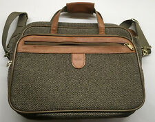 Hartman Tweed Leather Carry On Bag Shoulder Strap Overnight Weekender