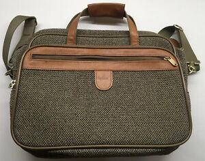 Hartman Tweed Leather Carry On Bag Shoulder Strap Overnight Weekender