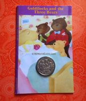 2006 ISLE OF MAN ONE 1 CROWN GOLDILOCKS & THREE BEARS IN POBJOY SEALED BOOK CARD