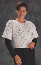Crochet Pattern ~ Ladies Beautiful Evening Top Sweater ~ Instructions