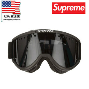 Windproof SUPREME SKI SNOWBOARD GOGGLE GLASSES CARIBOO SMITH Black FW15
